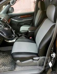 Вариант расцветки и материала авточехлов для Toyota Carina E вариант 7