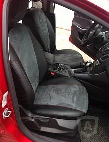 Вариант расцветки и материала авточехлов для Toyota Carina E вариант 8